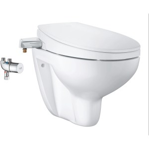 Grohe Bau Ceramic Manual Bidet Seat 3-In-1 Wall Hung 39652