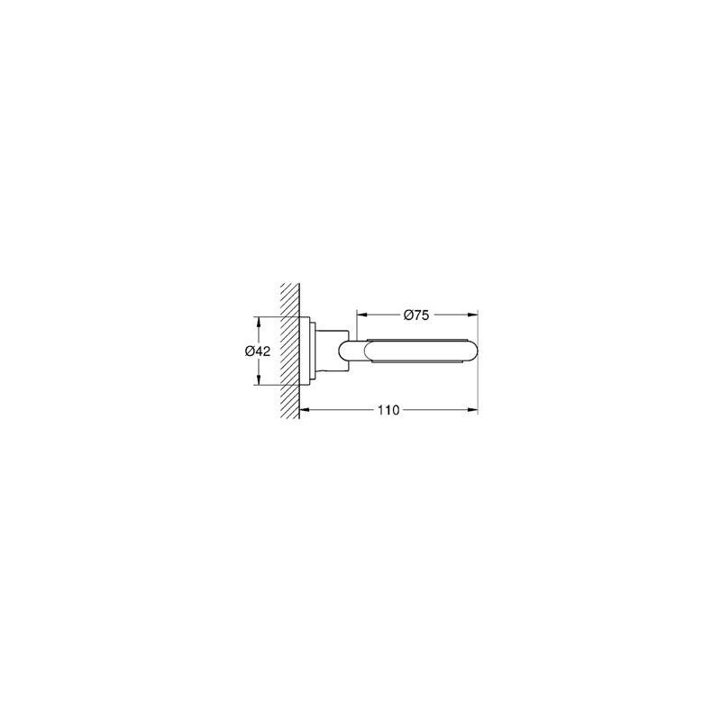 Grohe Atrio Glass/Soap Dish Holder 40305