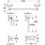 Grohe Essentials 5-In-1 Bathroom Accessories Set 40344