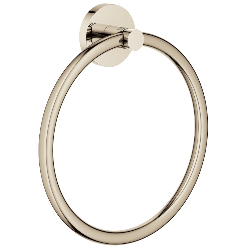 Grohe Essentials Towel Ring 40365 Polished Nickel