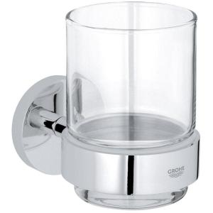 Grohe Essentials Crystal Glass with Holder 40447