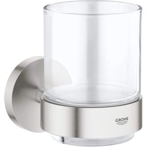 Grohe Essentials Crystal Glass with Holder 40447 Supersteel