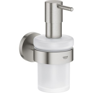 Grohe Essentials Soap Dispenser with Holder 40448 Supersteel