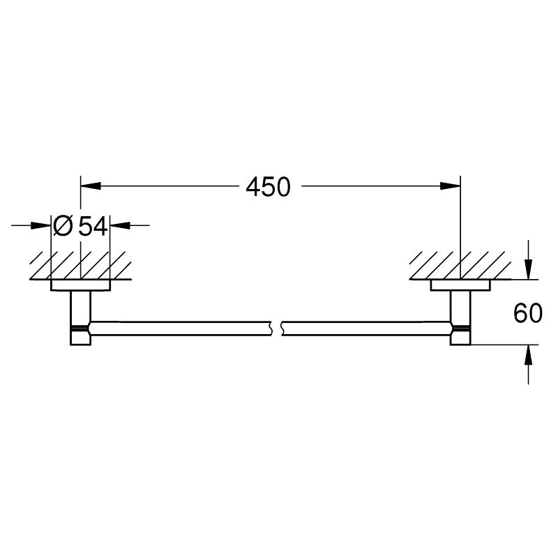 Grohe Essentials Towel Rail 40688 Hard Graphite