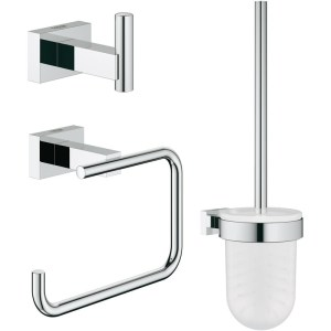 Grohe Essentials Cube 3-in-1 WC Accessories Set 40757