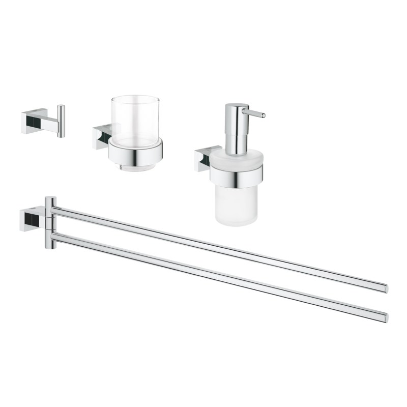 Grohe Essentials Cube Master 4-in-1 Accessories Set 40847