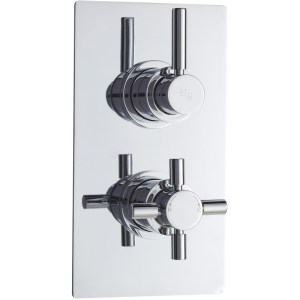 Hudson Reed Tec Pura Twin Thermostatic Valve with Diverter