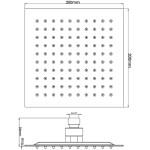Hudson Reed Square Minimalist Fixed Shower Head 200mm