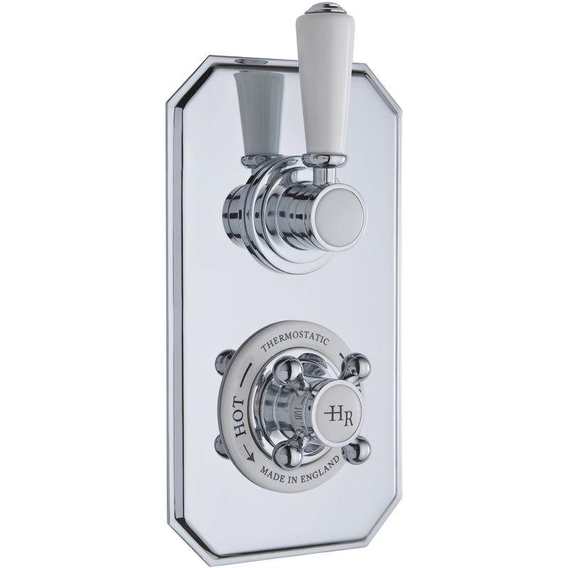Hudson Reed White Topaz Twin Thermostatic Shower Valve