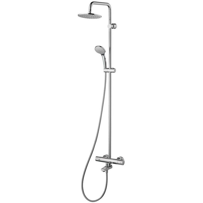 Ideal Standard Ceratherm Bath Shower Mixer, Rainshower & Riser
