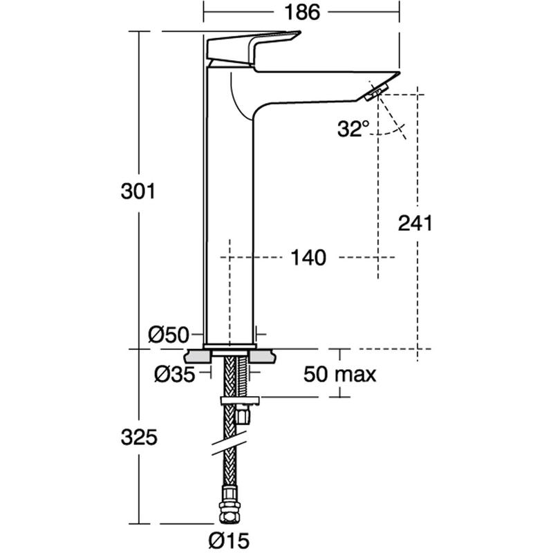 Ideal Standard Tesi Vessel Basin Mixer No Waste A6575 Chrome