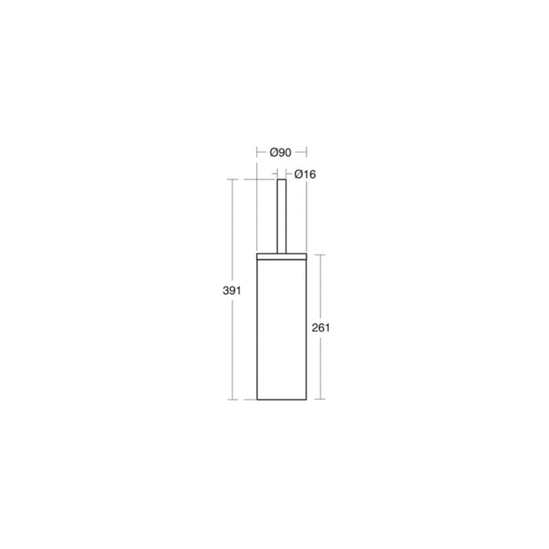 Ideal Standard IOM Toilet Brush & Holder A9108 Satin Steel