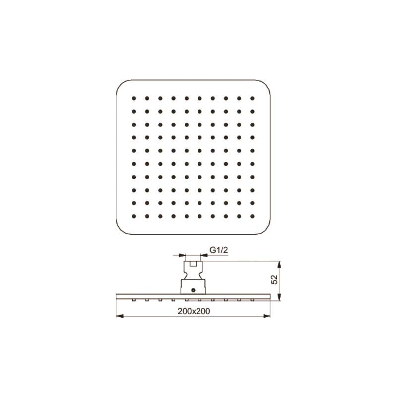 Ideal Standard Idealrain Cube M1 Rainshower B0024