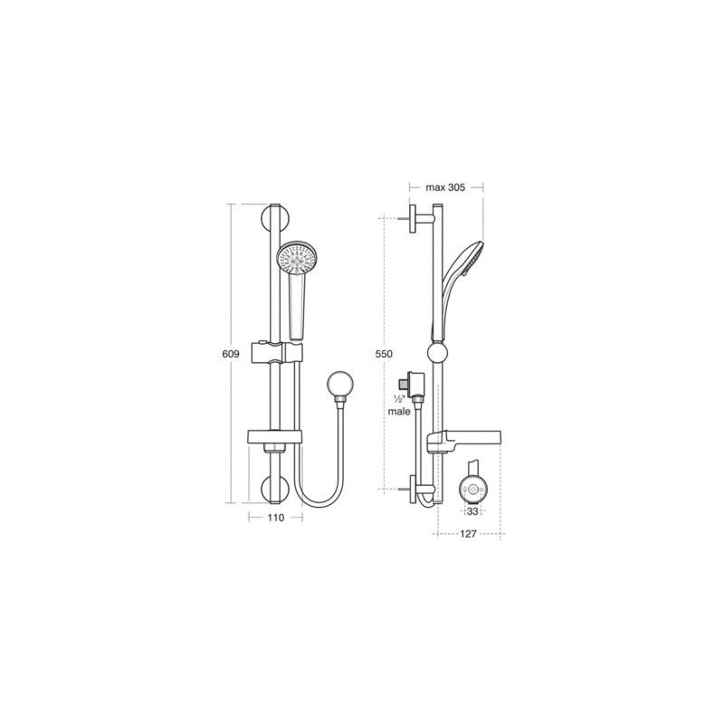 Ideal Standard Idealrain S3 Shower Kit B9556