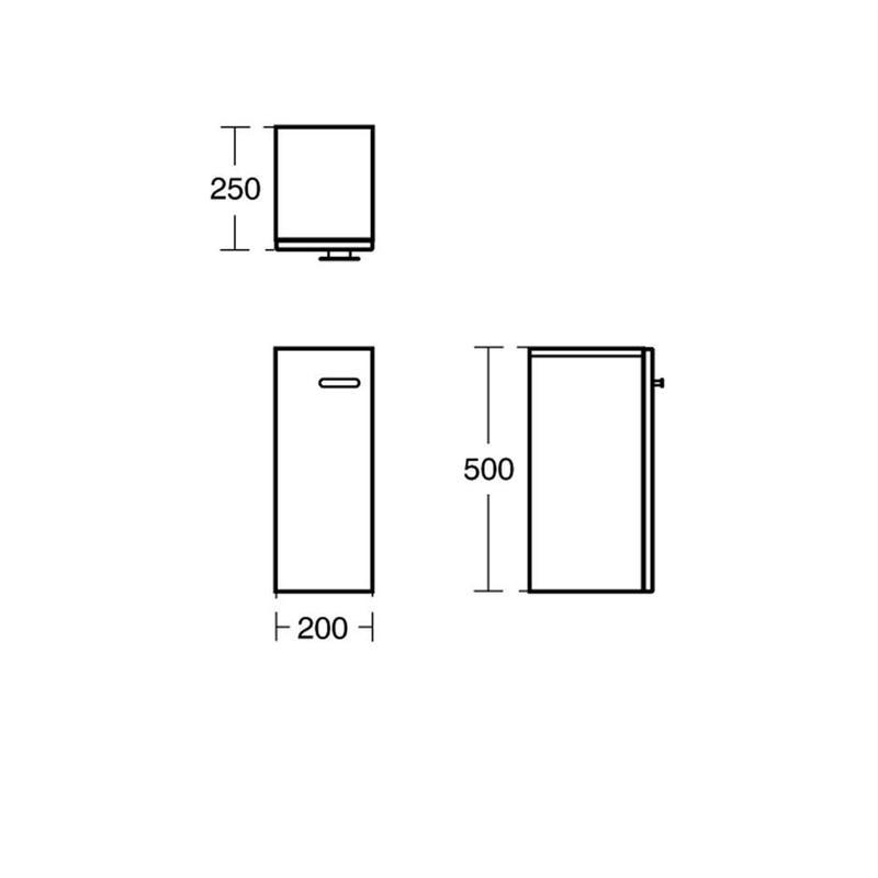 Ideal Standard Concept Space 200mm Add On Unit E0372 Grey