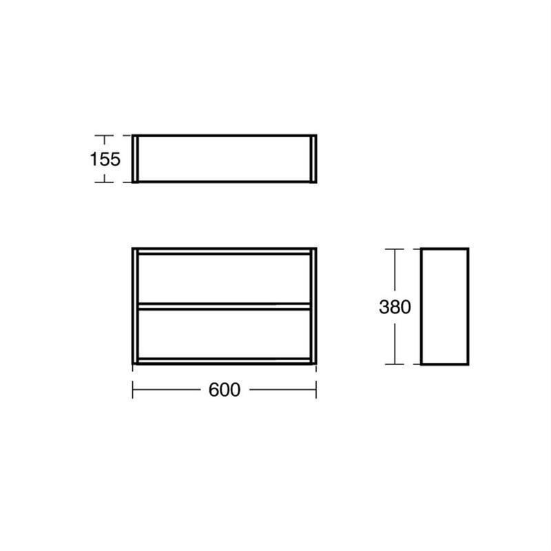 Ideal Standard Concept Space 600mm Fill In Shelf Unit E0374 Oak