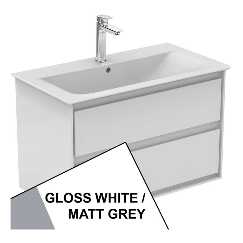 Ideal Standard Concept Air 800mm Vanity Unit E0819 White/Grey