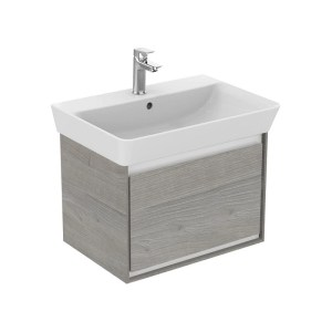 Ideal Standard Concept Air Cube 550mm Grey Wood/White Unit & Basin
