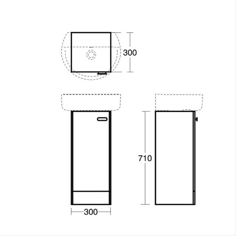 Ideal Standard Concept 300mm Pedestal Unit E1443 White