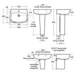 Ideal Standard Studio Echo Semi Pedestal E1568