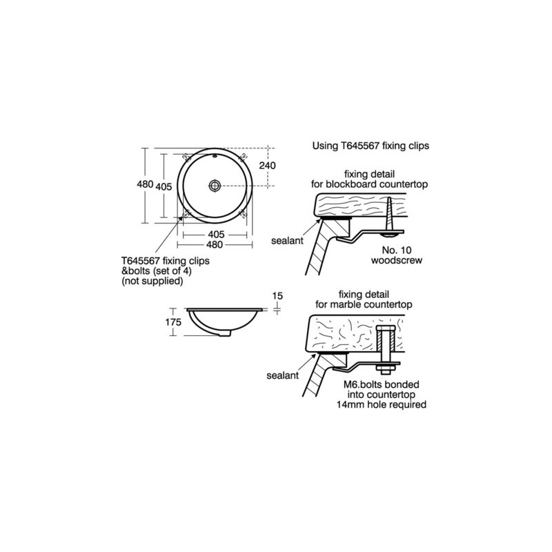 Ideal Standard Concept Sphere 38cm Countertop Basin E5026