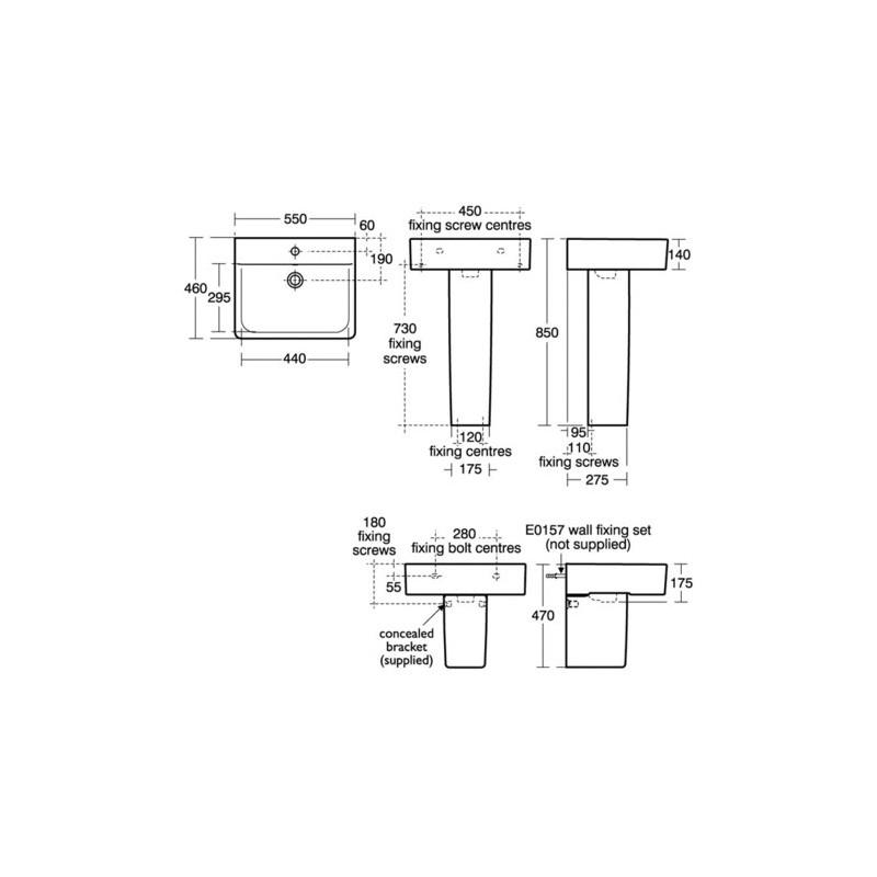 Ideal Standard Concept Large Pedestal E7837