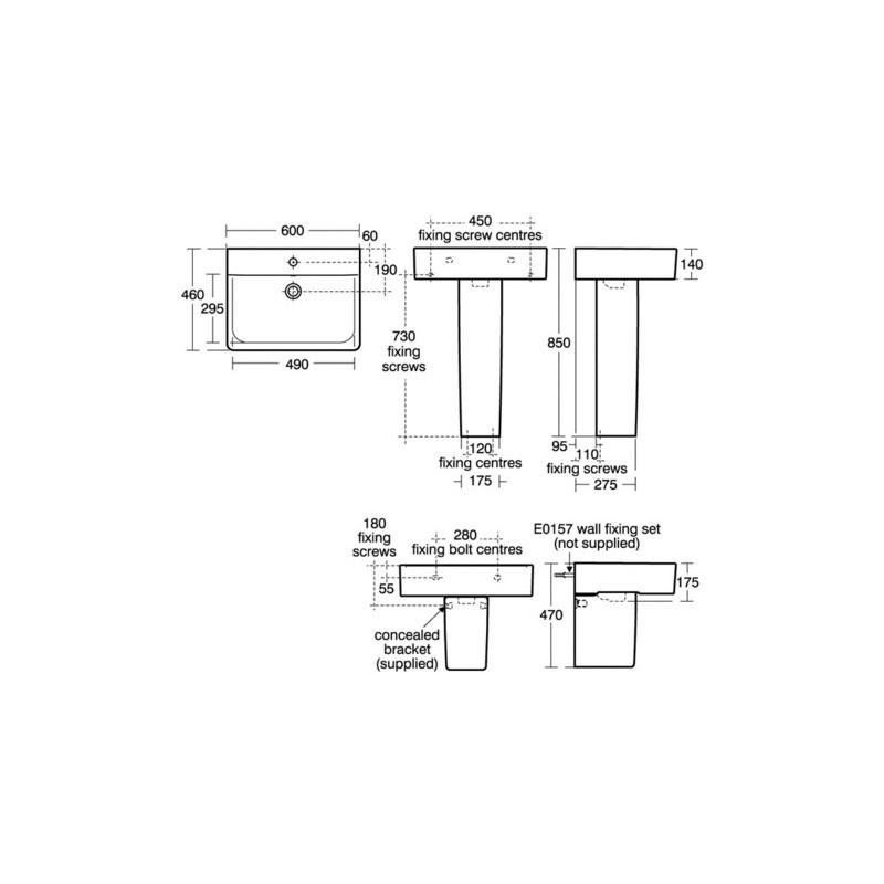 Ideal Standard Concept Cube 60cm Washbasin 1 Taphole E7943