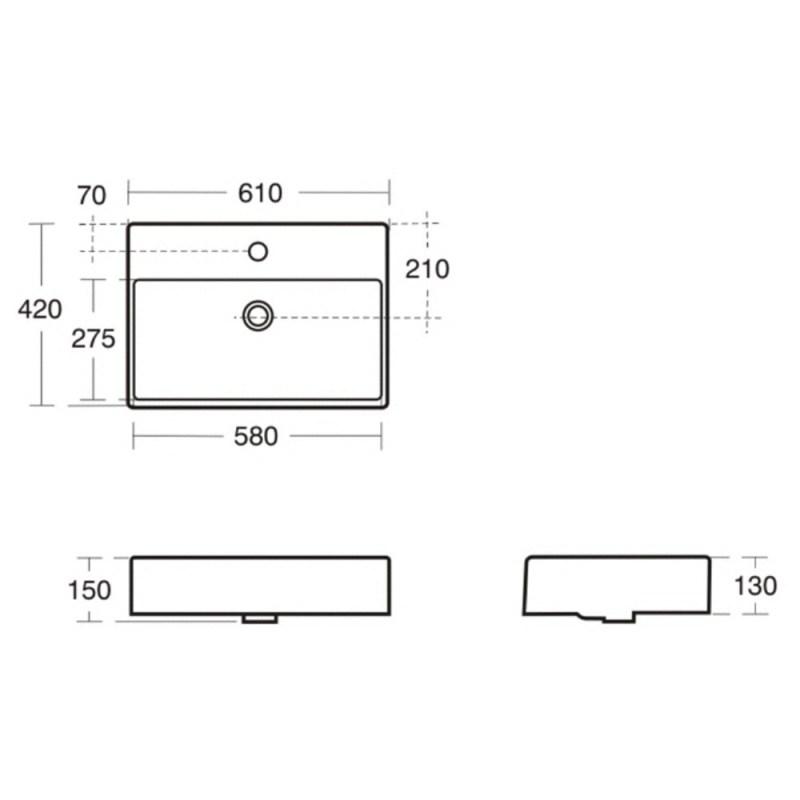 Ideal Standard Strada 60cm Vessel Countertop K0781