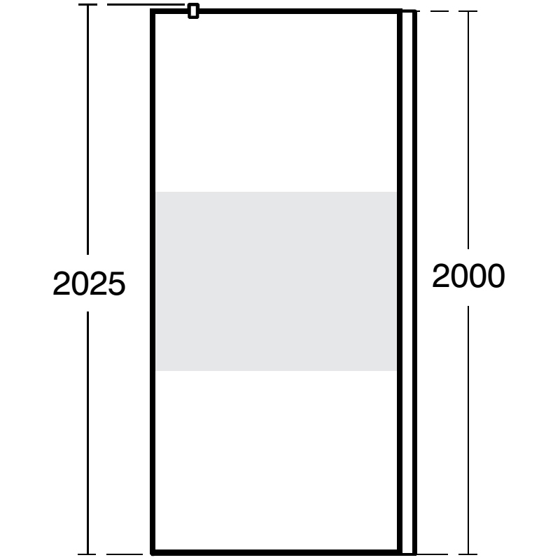Ideal Standard Synergy Freedom Wetroom Panel 900mm L6180