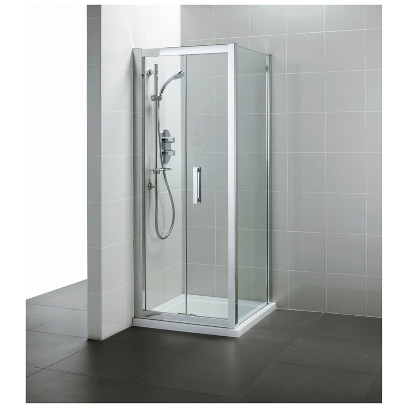 Ideal Standard Synergy 1000mm Infold Door L6209 Bright Silver