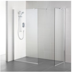 Ideal Standard Synergy 1200mm Wet Room Panel L6225 Bright Silver