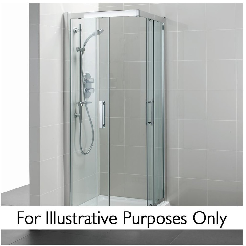 Ideal Standard Synergy 900mm Corner Entry Enclosure L6281 Silver