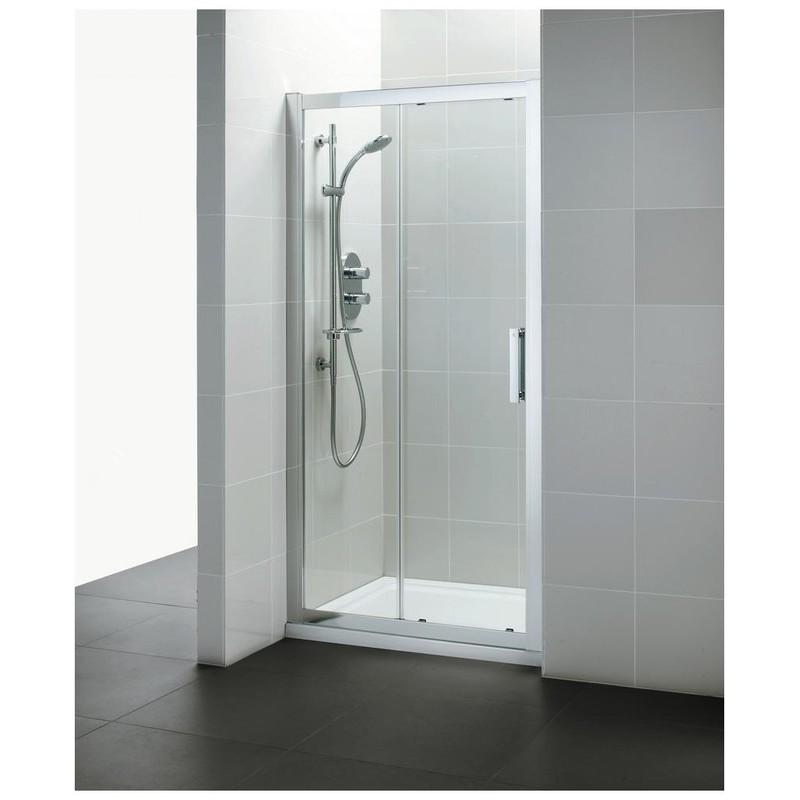 Ideal Standard Synergy 1400mm Slider Door L6290 Bright Silver