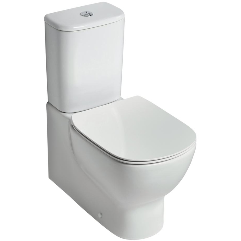 Ideal Standard Tesi Close Coupled Back-to-Wall Toilet with Slow Close Seat