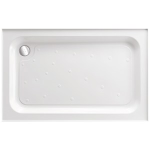 Just Trays Merlin 1000x760mm Rectangular Shower Tray 4 Upstands