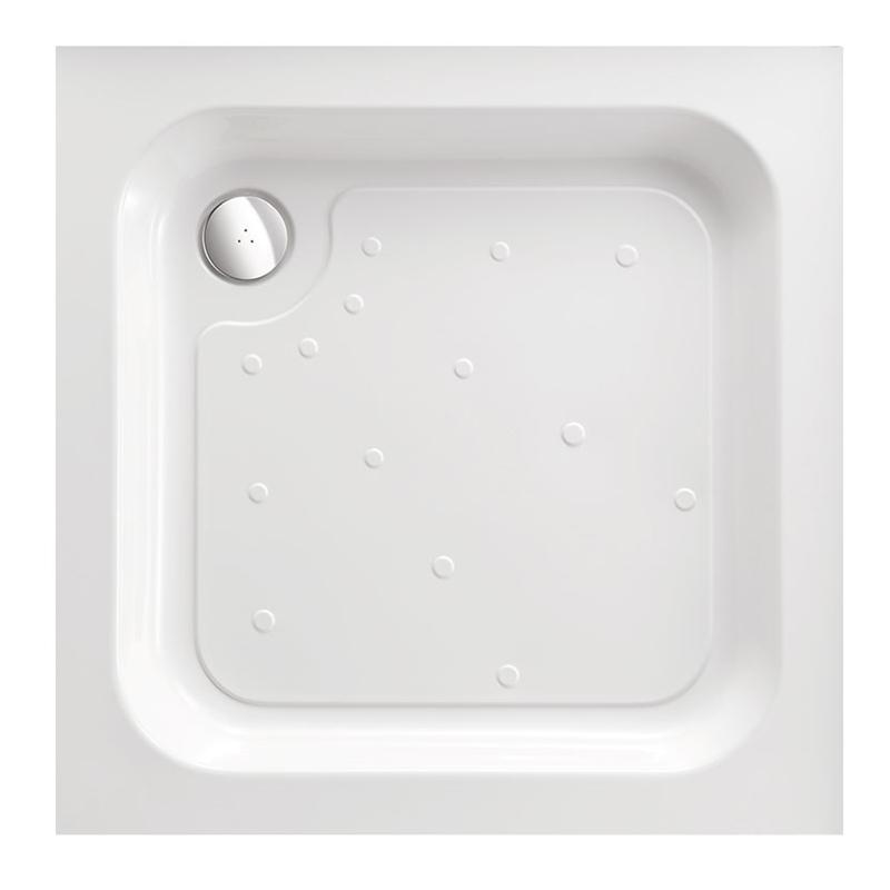 Just Trays Merlin 1000mm Square Shower Tray Anti-Slip