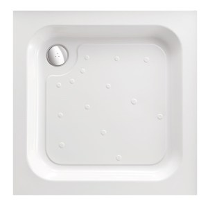 Just Trays Merlin 800mm Square Shower Tray Anti-Slip