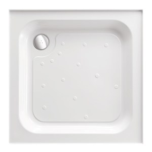 Just Trays Merlin 800mm Square Shower Tray Anti-Slip 4 Upstands