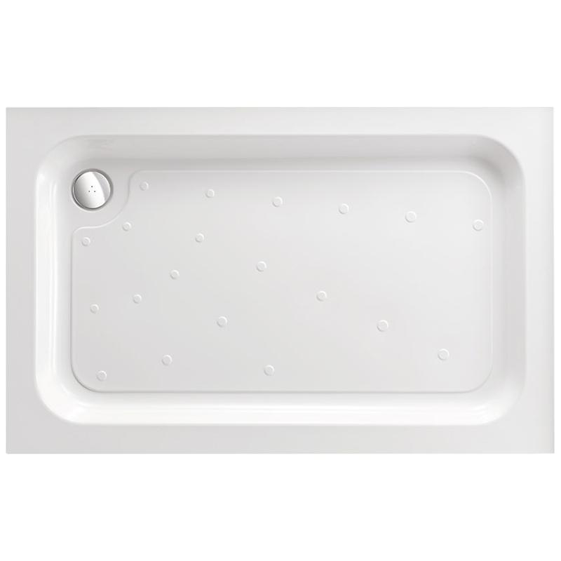 Just Trays Merlin 800x700mm Rectangular Shower Tray Anti-Slip