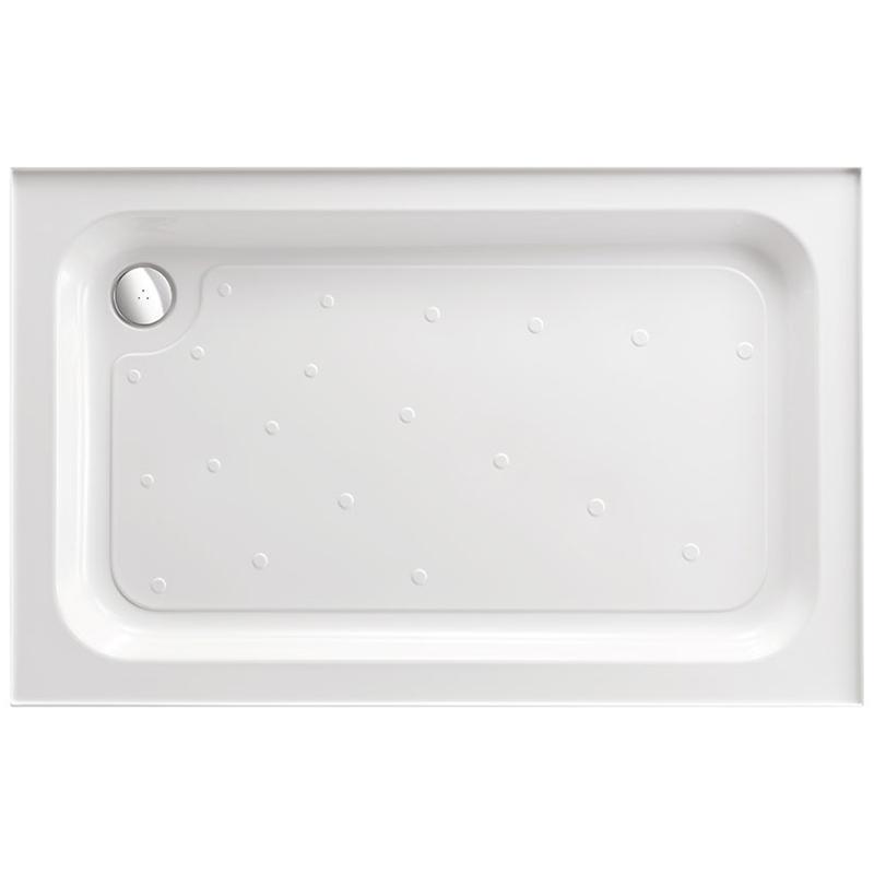 Just Trays Ultracast 900x760mm Shower Tray 4 Upstands Anti-Slip
