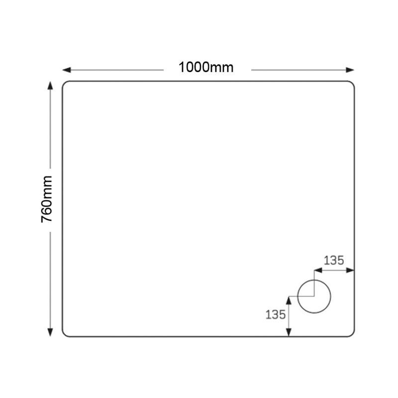 Just Trays Fusion 1000x760mm Rectangular Shower Tray Anti-Slip