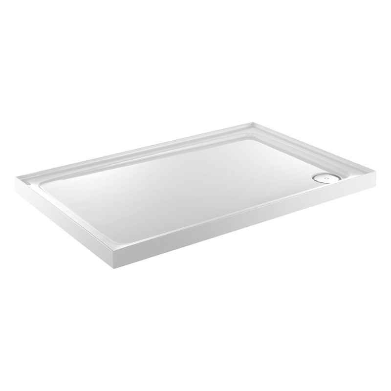 Just Trays Fusion 1000x800mm Shower Tray 4 Upstands Anti-Slip