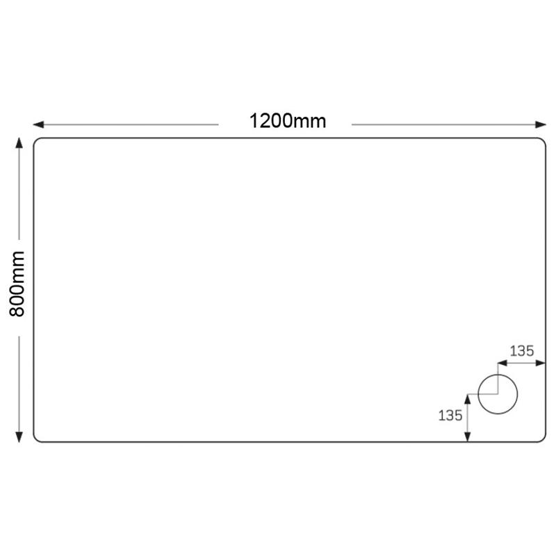 Just Trays Fusion 1200x800mm Rectangular Shower Tray Anti-Slip