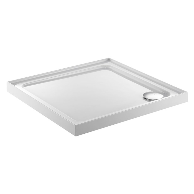 Just Trays Fusion 800mm Square Shower Tray 4 Upstands