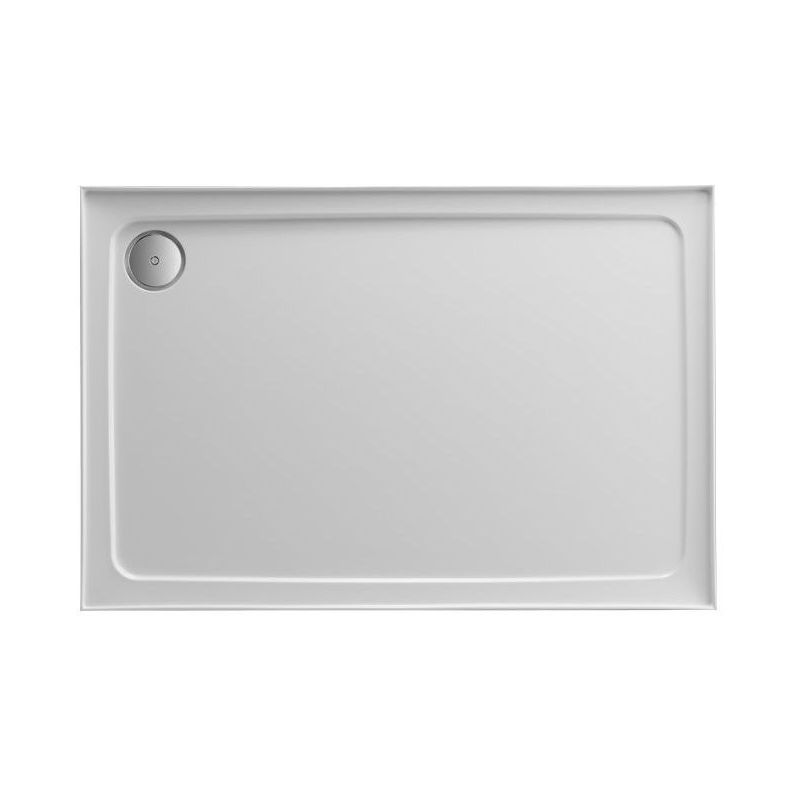 Just Trays Fusion 800x700mm Rectangular Shower Tray 4 Upstands