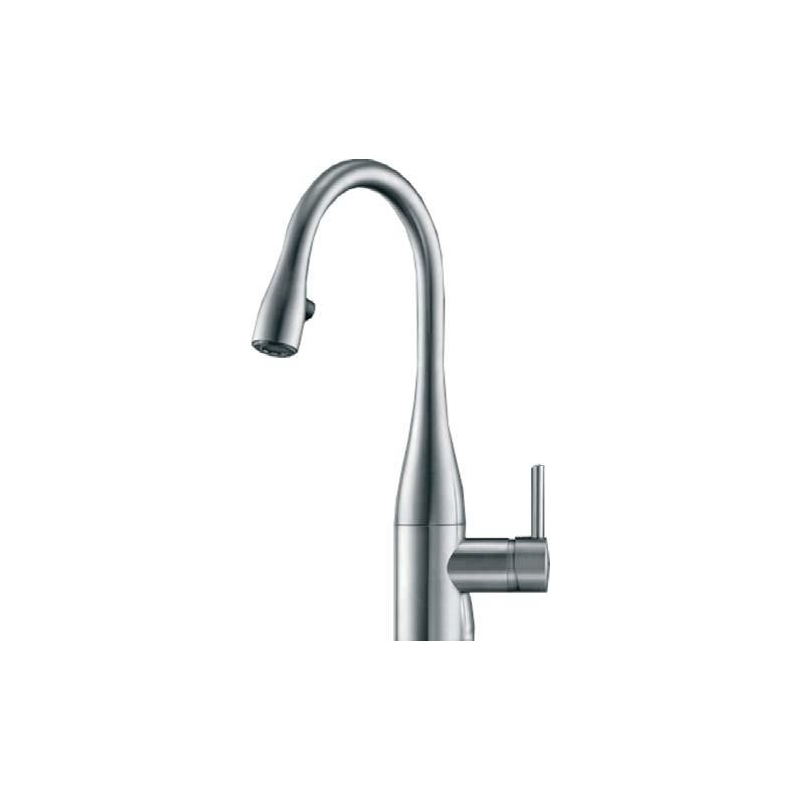 KWC Eve Mini Sink Mixer with Pull-Out Aerator Chrome