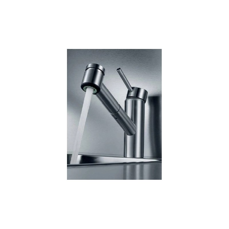 KWC Inox Mono Sink Mixer with Pull-Out Spray Stainless Steel
