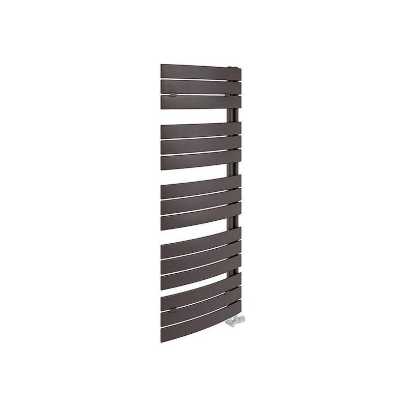 Lazzarini Pieve 1380x550mm Anthracite Curved Towel Warmer