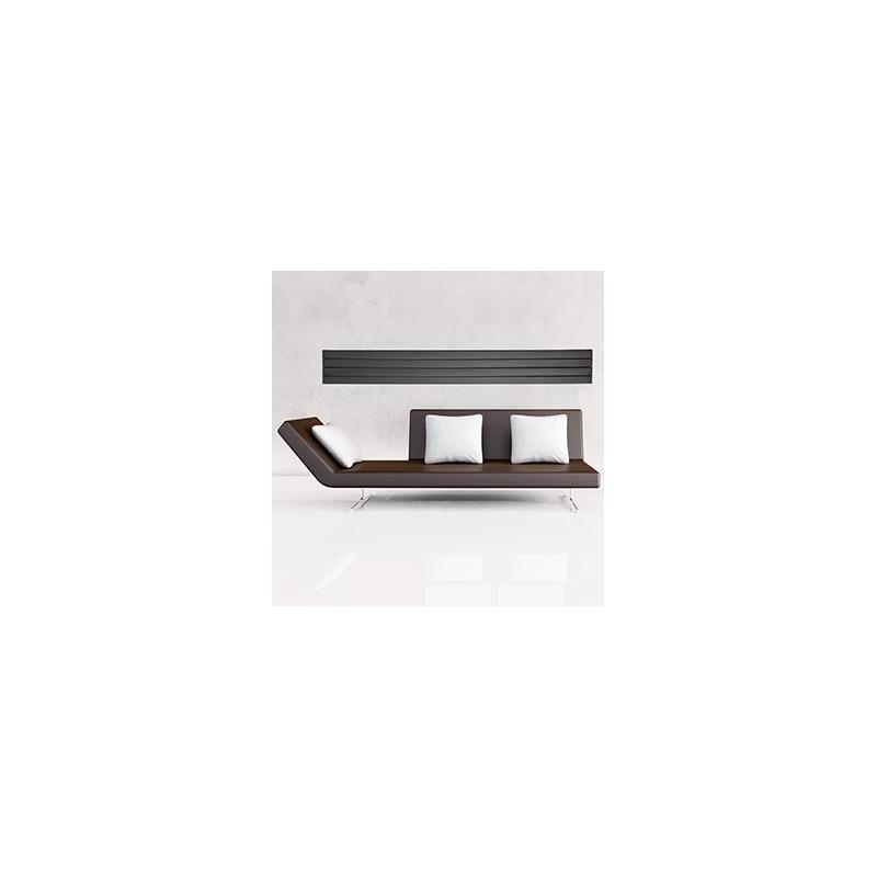 Lazzarini Livorno 1800x309mm Flat Panel Anthracite Radiator