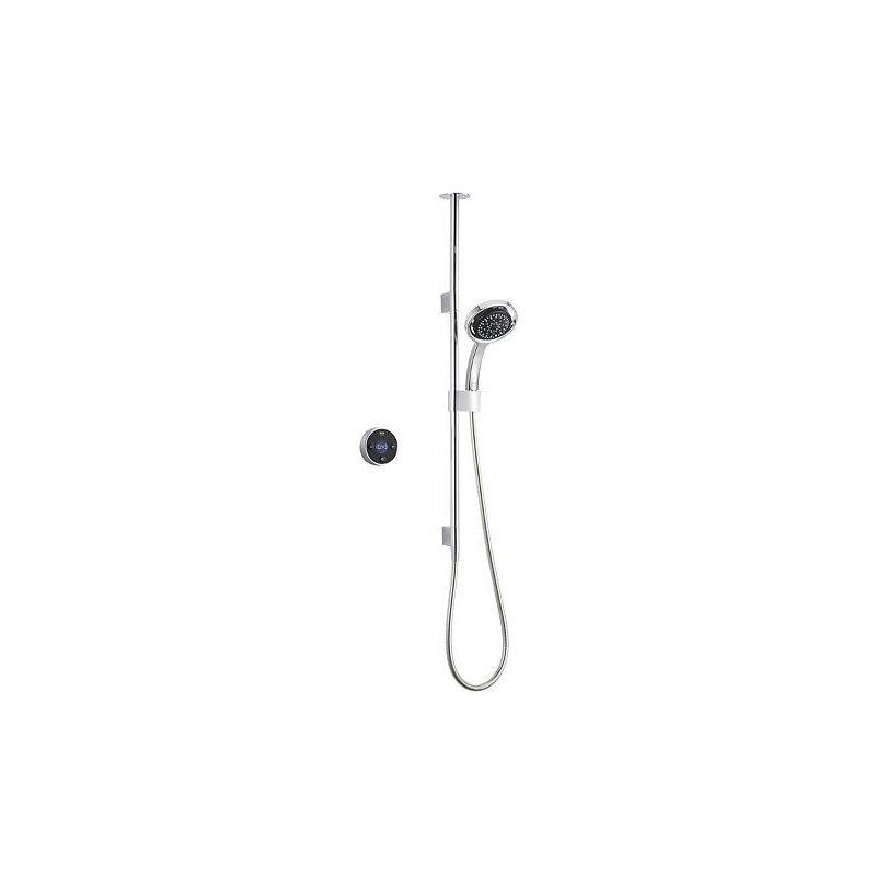 Mira Platinum Ceiling Fed Digital Shower Pumped Black/Chrome